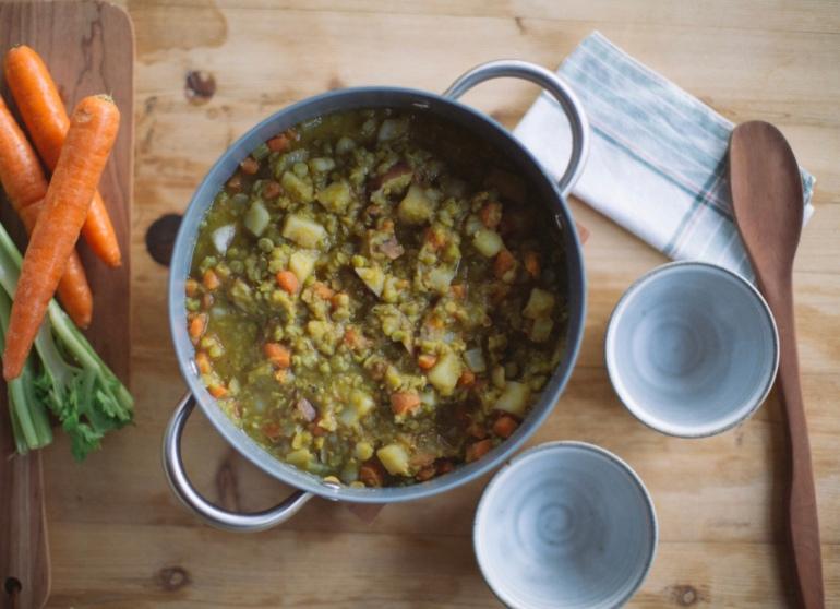 live planted split pea soup