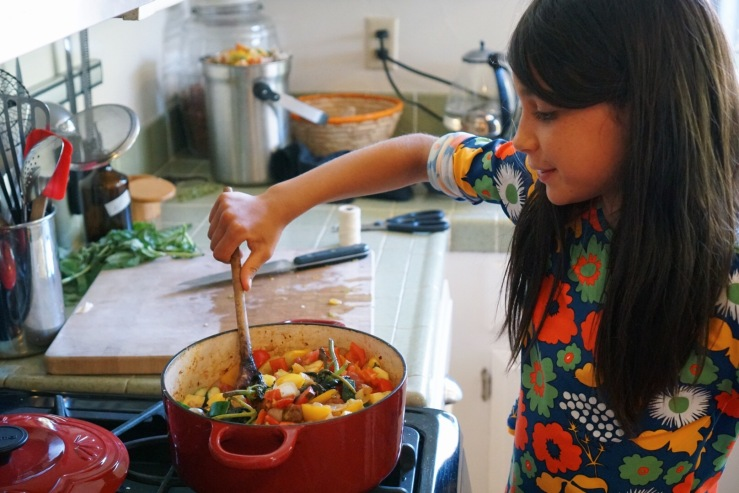 carmela ratatouille cooking vegan kids