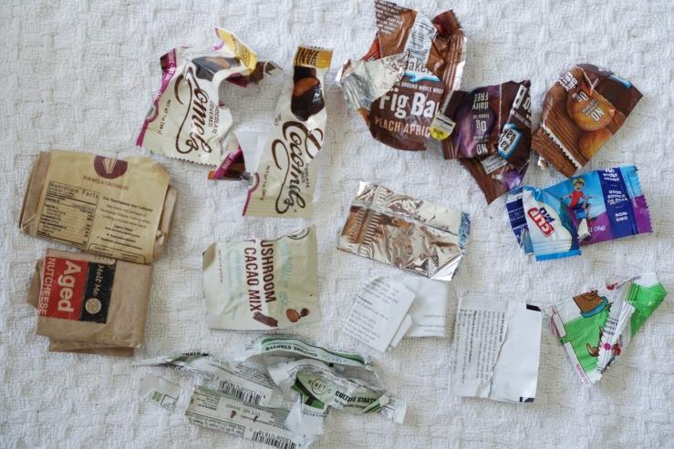 food wrappers vegan trash