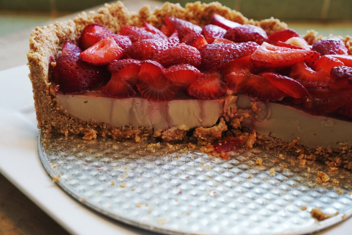 strawberry tart vegan Amy chaplin
