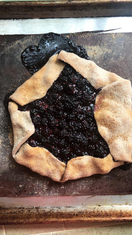blackberry galette