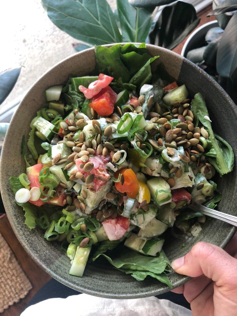salad tahini vegan dressing oil free