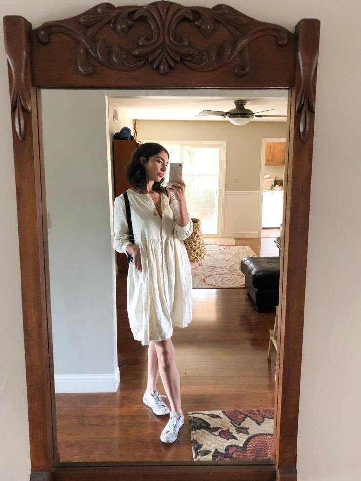 Beaton linen dress alabaster ethical clothing