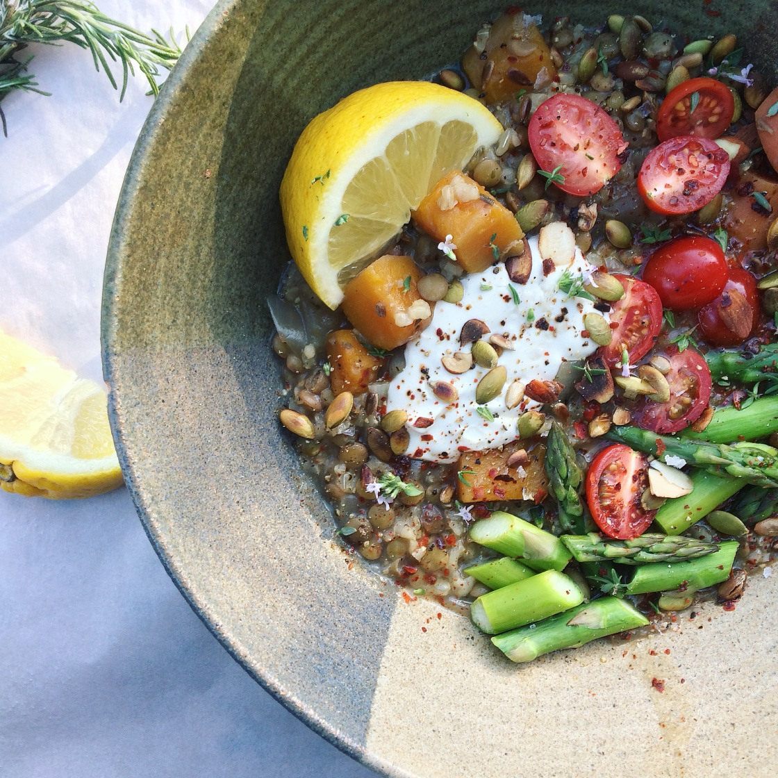 lentil crockpot stew vegan butternut