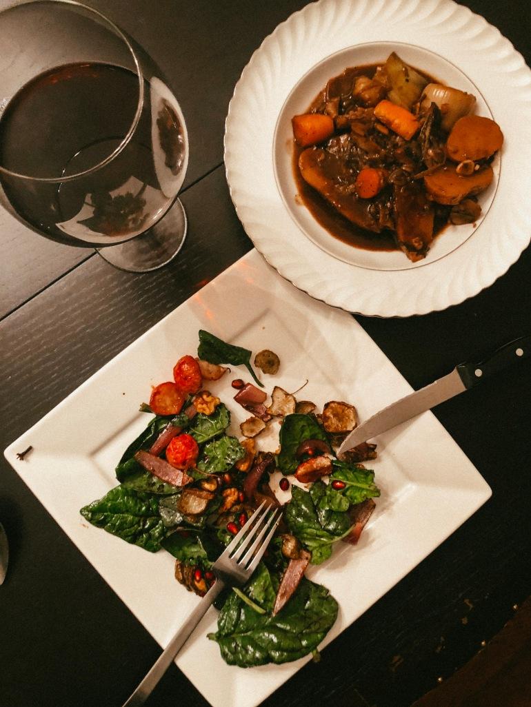 red wine stew autumn dinner