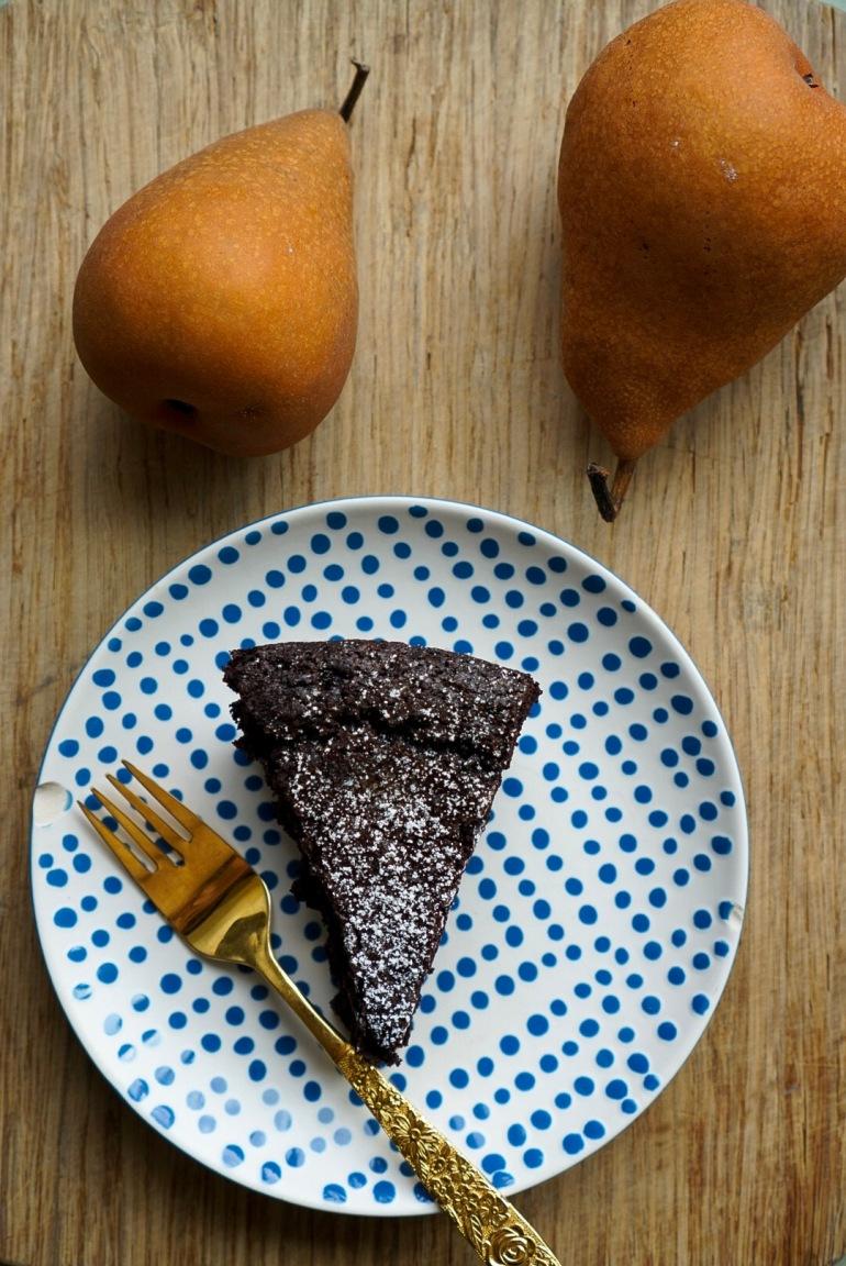 chocolate flourless cake vegan gluten free