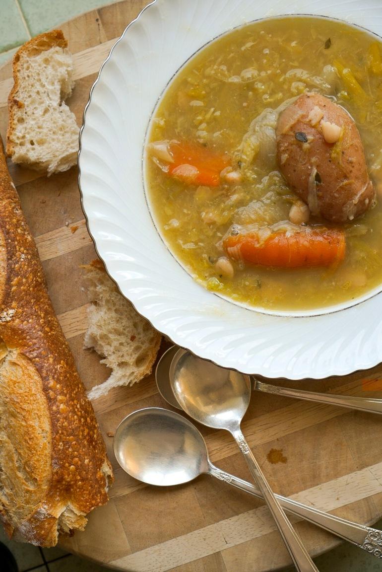 potato soup garbure pyrenees vegan
